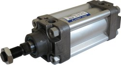 Picture of single acting pneumatic cylinder to VDMA 24562, NF E 49003.1